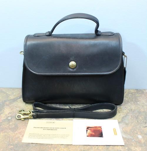 2000000028316 OLD COACH LEATHER 2WAY SHOULDER BAG MADE IN USA/オールドコーチレザー2wayショルダーバッグ