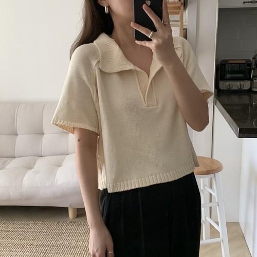 ニットポロシャツ U3709