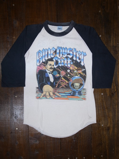 80's THE KNITS BLUE OYSTER CULT 1981 Concert Tour 七分袖 Rock T-Shirts(ラグラン)