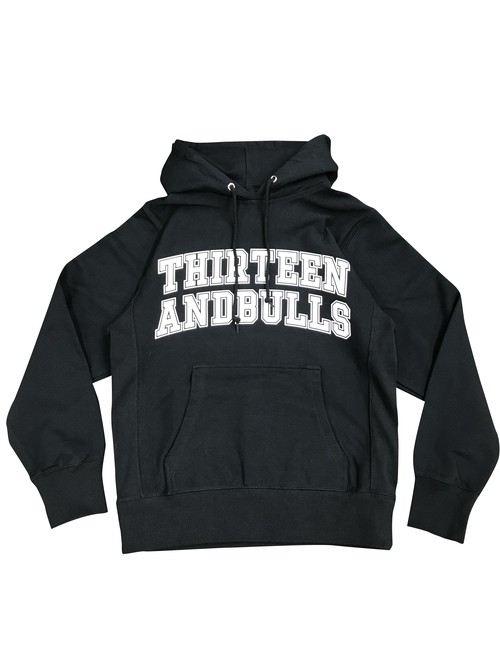 COLLEGE HOODED SWEAT(BLACK)
