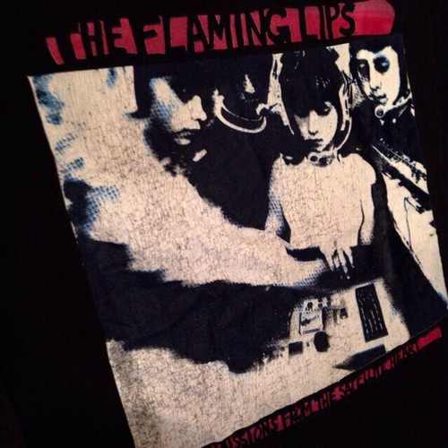 "Vintage 90s THE FLAMING LIPS "" Transmissions from the Satellite Heart "" Tee"