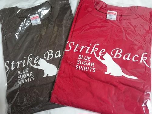 Strike Back Tシャツ(チャコール・レッド)