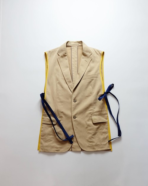 make over tailored vest2 (beige)