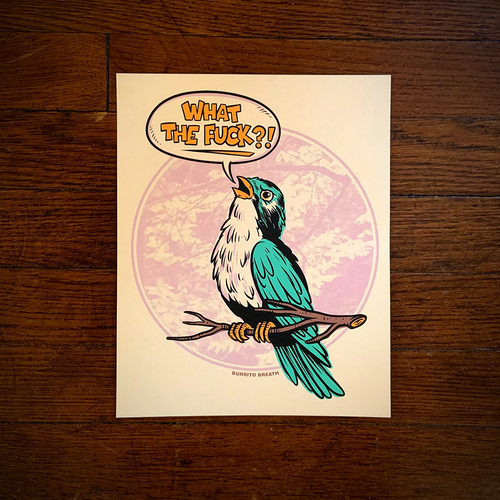 """Bird Wird"" Print v1 by Burrito Breath"