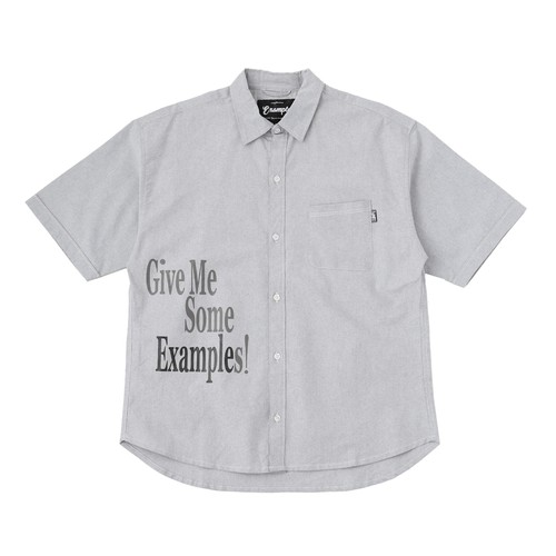 EXAMPLE GME OXFORD S/S SHIRT / GRAY