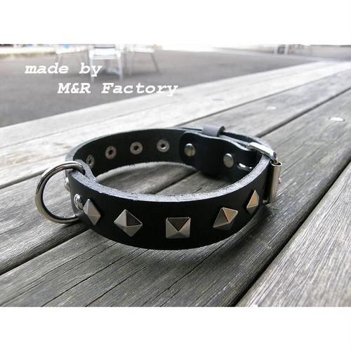 【オリジナル首輪】【サイズオーダー可能】M&R Factory オリジナルヌメ革製首輪mr0032 #ボストンテリア #フレンチブルドッグ #パグ