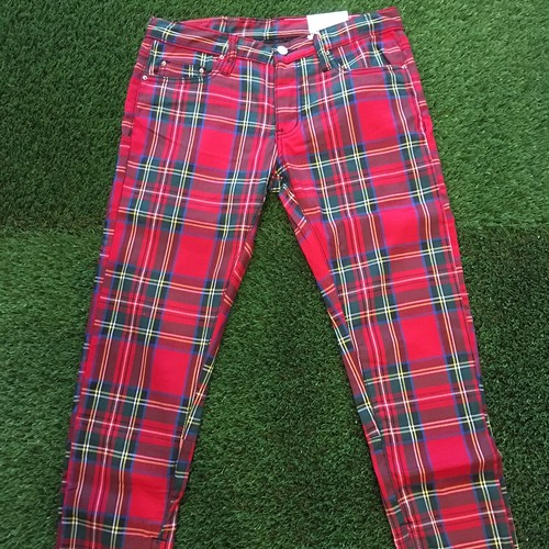 【MNML】 -ミニマル-M85 TARTAN DENIM RED
