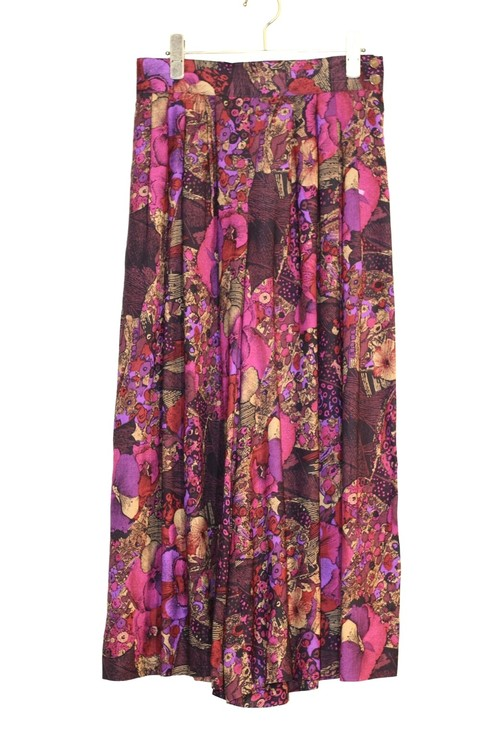 Flower pattern skirt pants