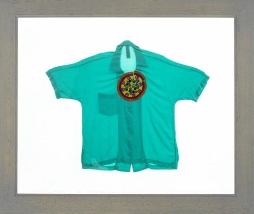BES-3 ミント ピザ柄刺繍