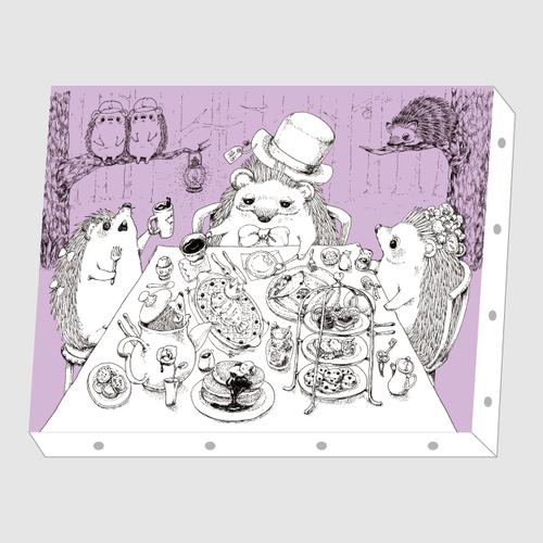 いわさきゆうし「tea party」アートキャンバス F0サイズ