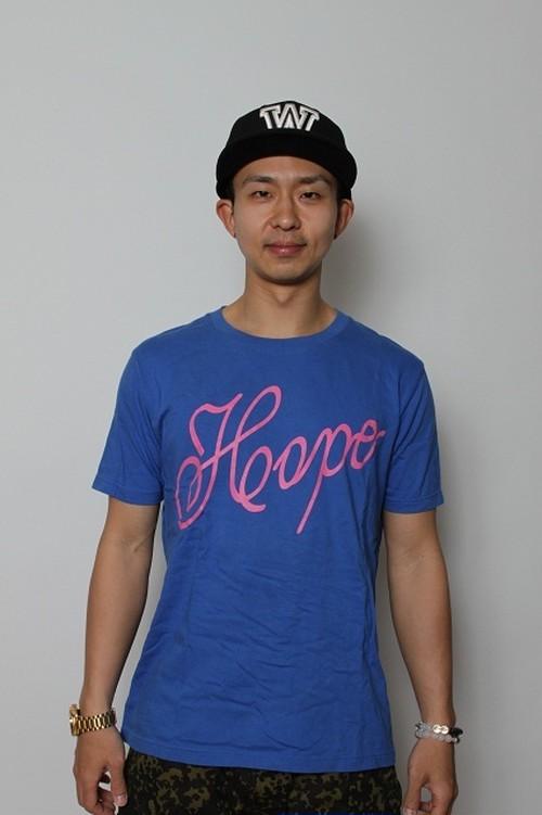 kyusHOPETシャツブルー×ピンク