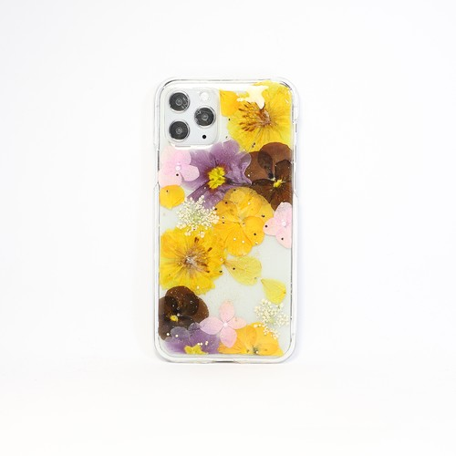 【11pro対応】押し花 iPhone case