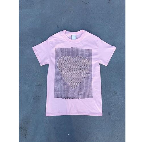 """love communication"" T-shirt / light pink"