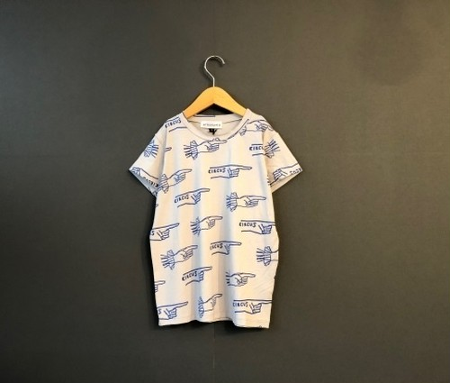 arkakama アルカカマ VISCOSE S/S Tee Overe There size:XL(10-11Y)