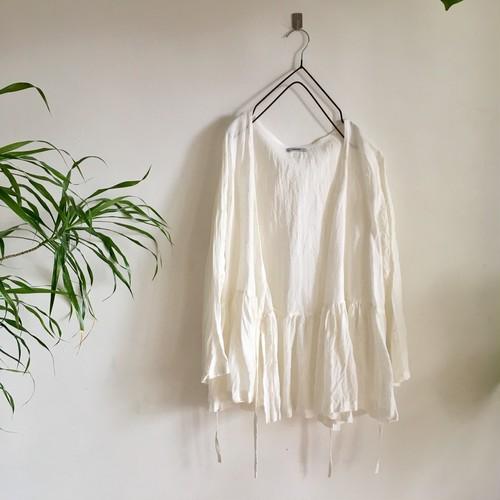 cache-coeur blouse  天日干しリネン  ホワイト