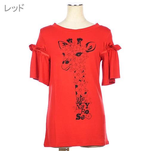 デニーローズ GiraffeプリントTシャツ