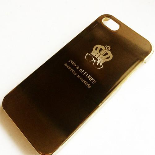 (残り2個)グラスマークiPhone5sケース(ゴールド)