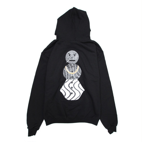 Quarter snacks GREY SCALE SNACKMAN HOODY CHARCOAL HEATHER BLACK