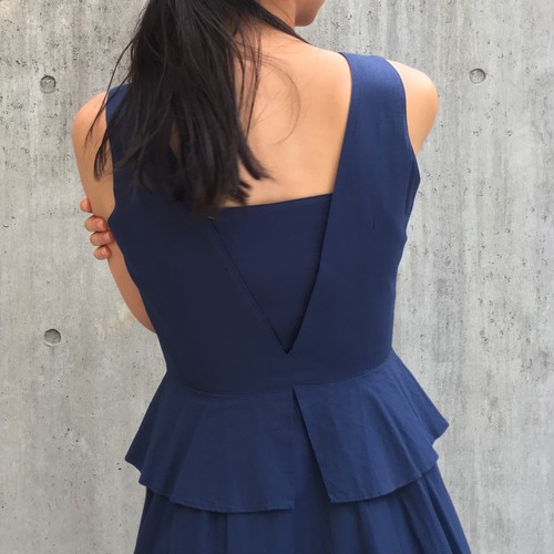 Navy peplum dress