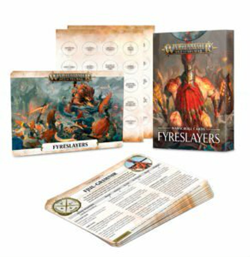 ウォースクロールカード:ファイアスレイヤー 日本語版 WARSCROLL CARDS: FYRESLAYERS