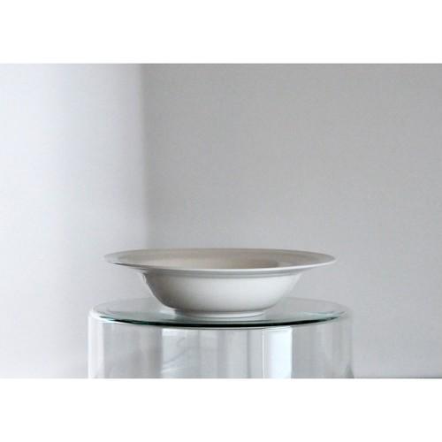 【 白磁スープ皿 】デッドストック / リム皿 / vintage / white porcelain / japan