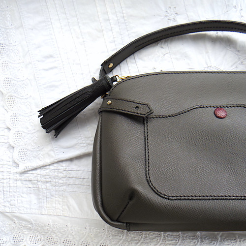 Calla Leather Shoulder 3way bag / Asphalt
