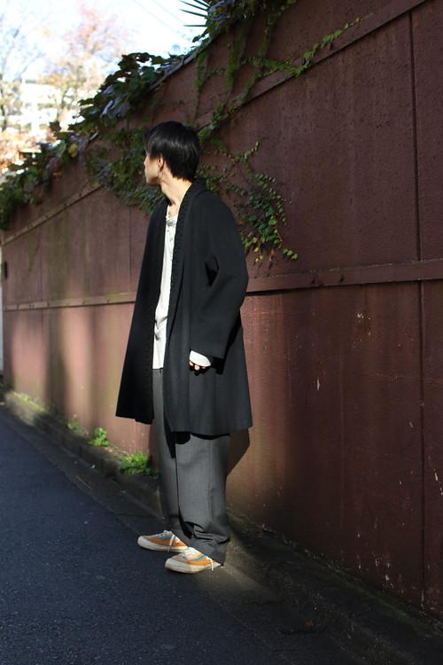 Wool Open Front Coat