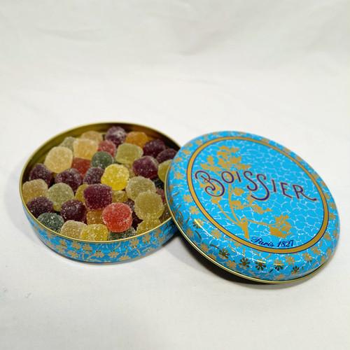 パリからのお土産便 Boissier Mini pate de fruits(75g、フルーツゼリー砂糖掛け)