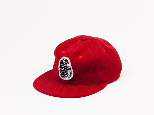 PINE STATE WOOL BALL CAP - RED