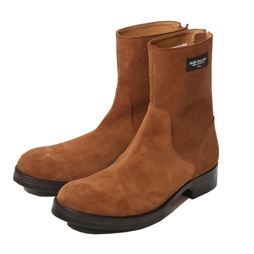 BACK ZIP BOOTS - SUEDE (BROWN) /  RUDE GALLERY