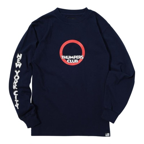 THUMPERS CLUB L/S TEE (NAVY) [TH-17AW-005]