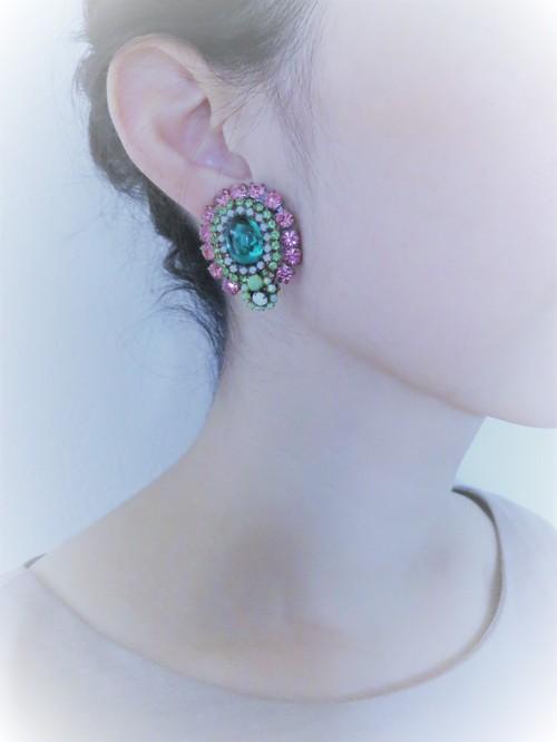 vintage earrings bijou <ER-RBpkgr>
