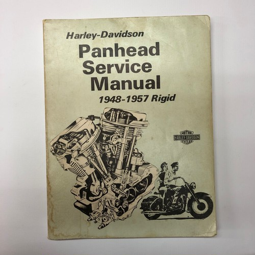 Harley Davidson Panhead Service Manual 1948-1957 Rigid ©1972(背表紙落書きあり)