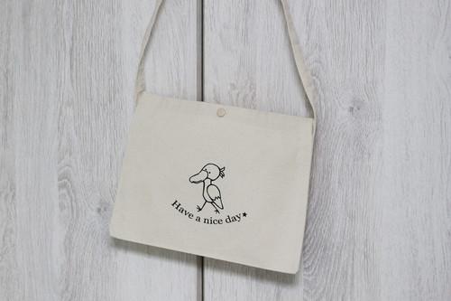 コピー:キャンバスサコッシュ☆猫☆グレー