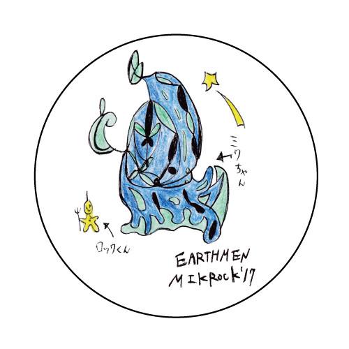 EARTHMEN x MIKROCK'17 コラボ缶バッジ