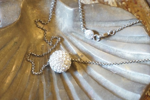 old Monet rhinestones ball Necklace