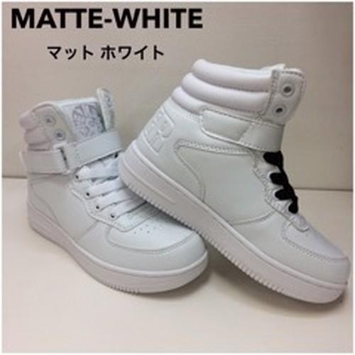 CHEER MATTE-WHITE ハイカットスニーカー