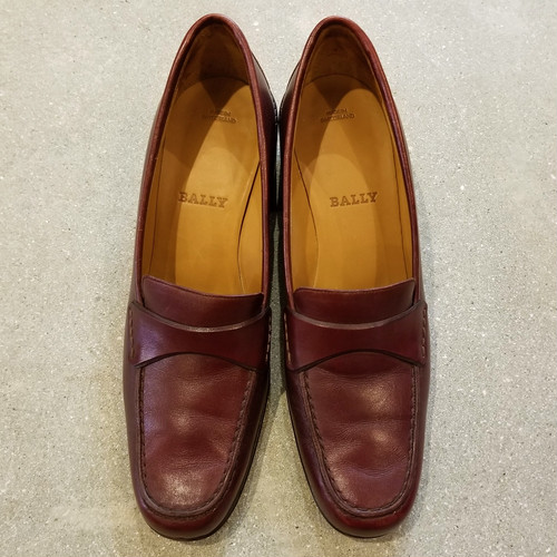 BALLY leather pumps / Made in Switzerland[s-207]