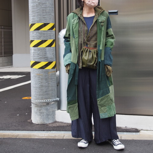 【ethical hippi】OD cache-coeur coat   / 【エシカル ヒッピ】OD カシュクールコート