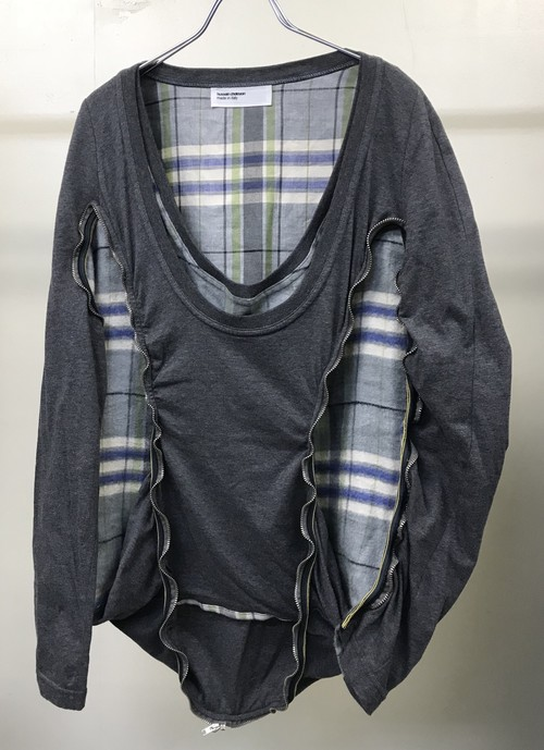 AW2003 HUSSEIN CHALAYAN 2in1 PULLOVER