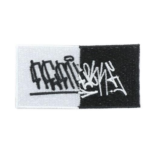 Nemlesss × Crod / Patch / Tag / Logo / White × Black (Limited 20)