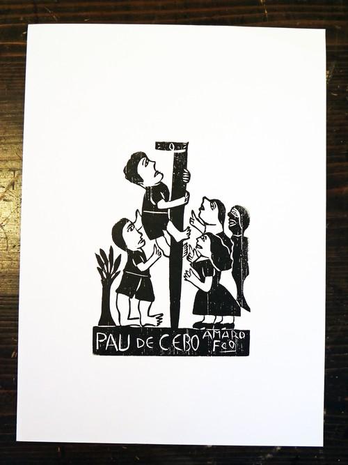 ブラジルの民衆版画-棒のぼり2