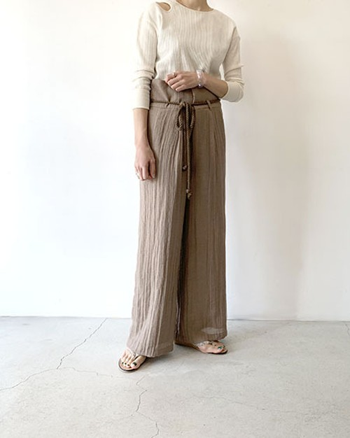 HIGH WAIST RELAX PANTS / SALT + JAPAN