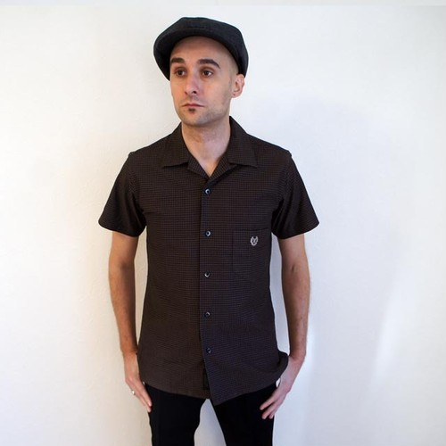 ONENAP COLLARED SS SHIRT  BROWN
