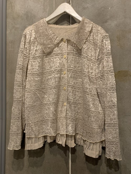 (TOYO) design lace l/s blouse