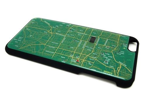 京都回路地図 iPhone6 Plusケース 緑【LEDは光りません】【東京回路線図ピンズをプレゼント】