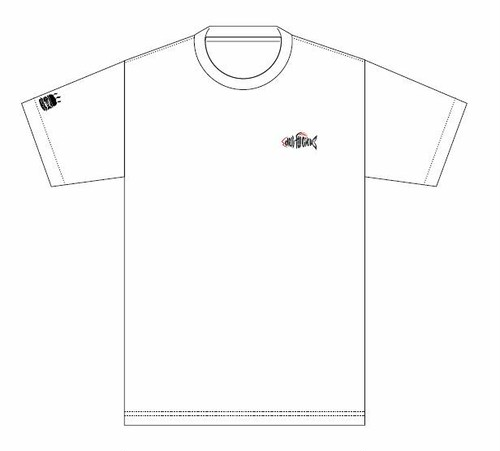 deli fu cious Tシャツ WHITE X BLACK   Original