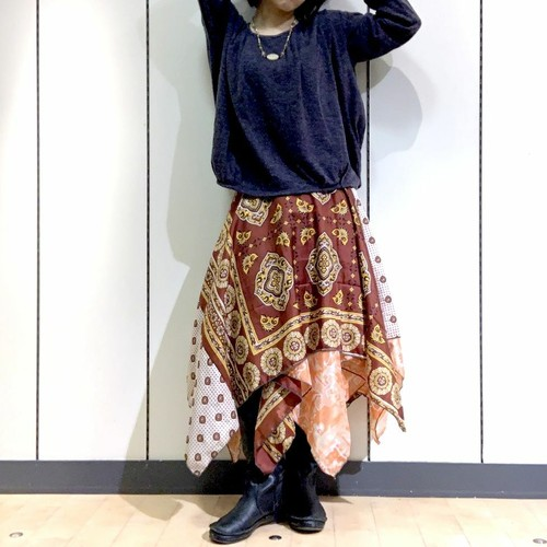 dsz-004 【新価格】シルクサリーギザスカート