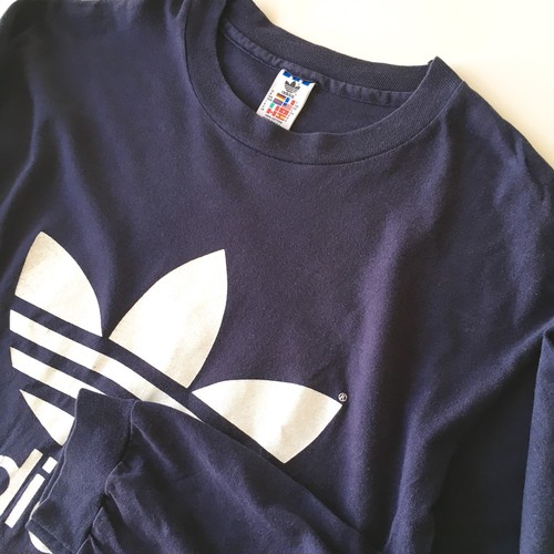 adidas: long sleeve logo print tee (used)