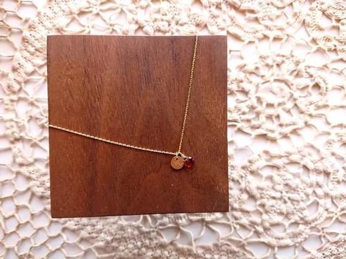 【受注生産】IRENE Accessory Necklace■Star Dust■Garnet  & round